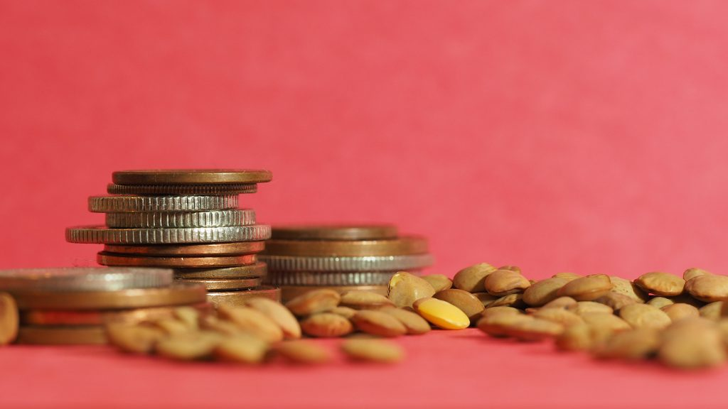 coins and lentils